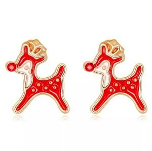 Rhinestone Rudoulph Earrings